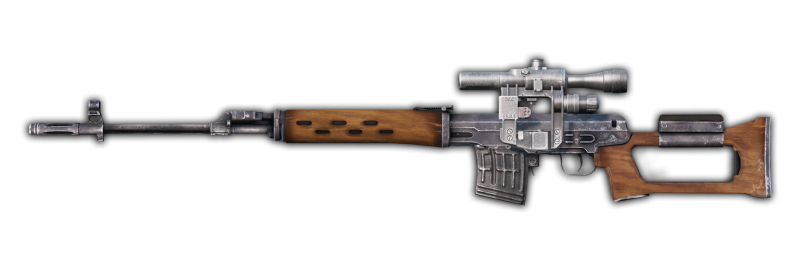 The DayzUnderground mod adds a wooden SVD to DayZ.