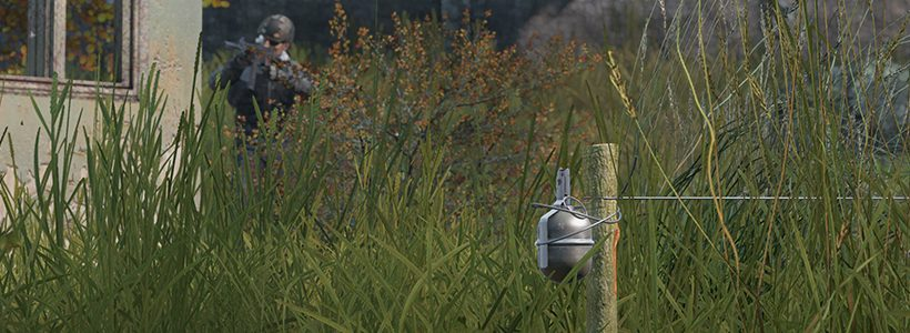 The DUG mod re-introduces trip wire traps to DayZ