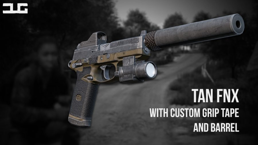 A new tan FNX with custom grip tape