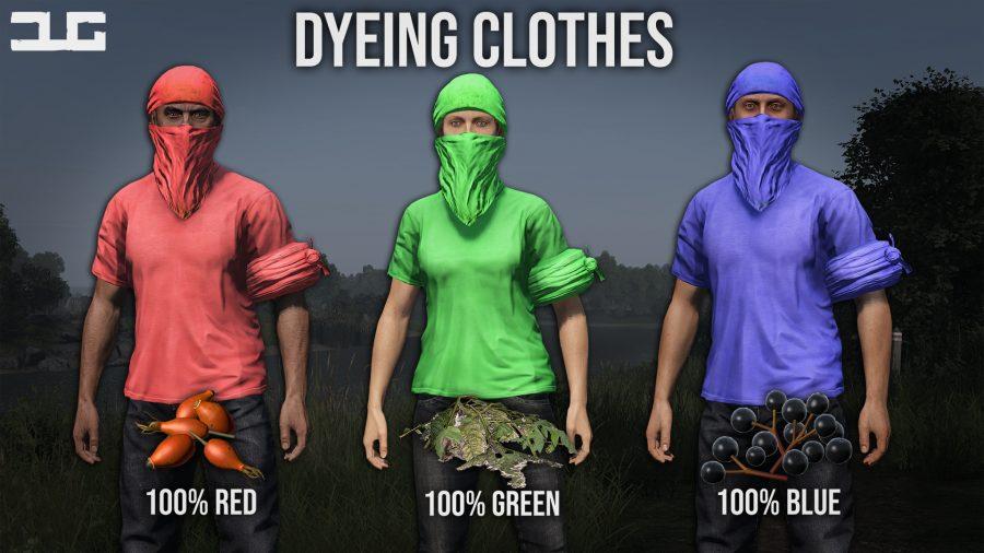 dayzunderground dyeing clothes in dayz
