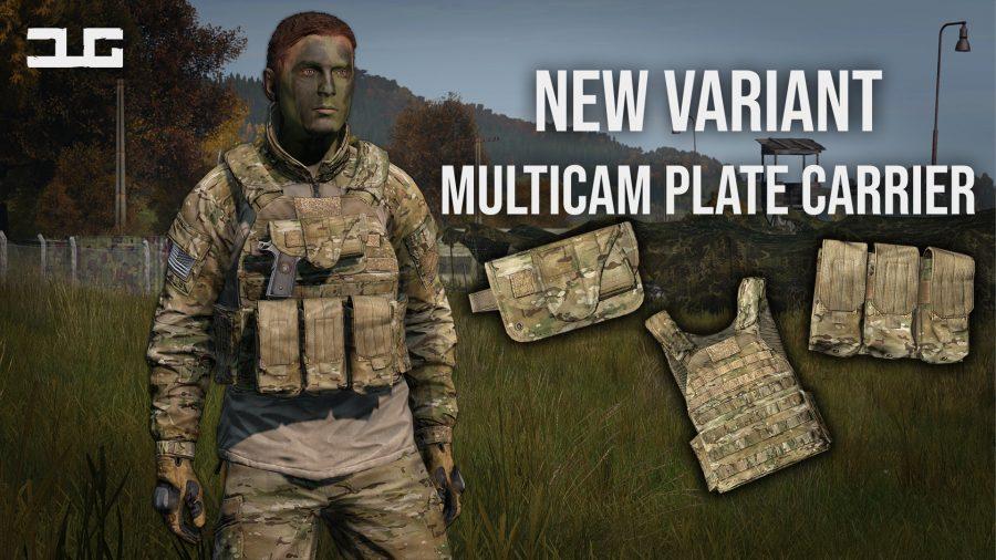 dayzunderground adds a new multicam plate carrier to dayz