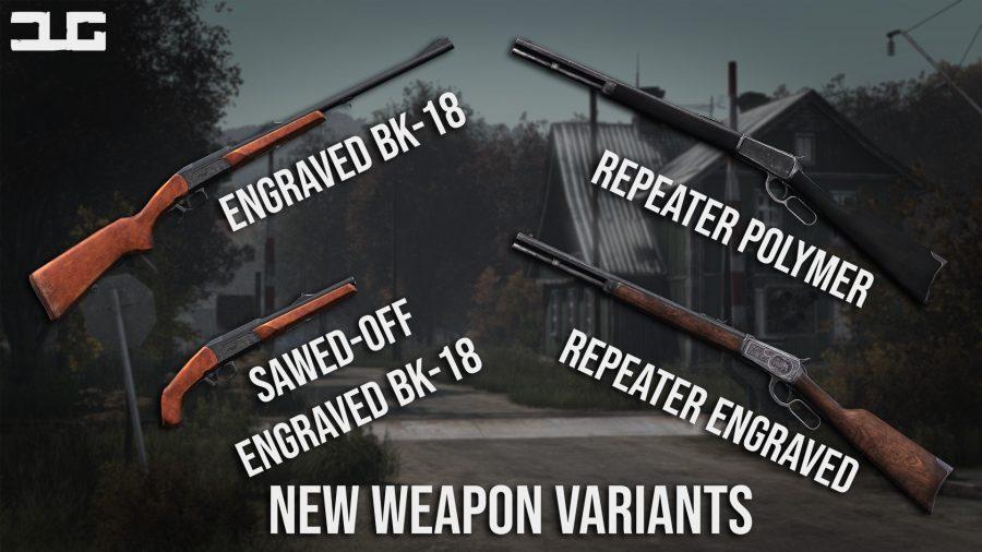 dayzunderground mod new weapon variants polymer repeater